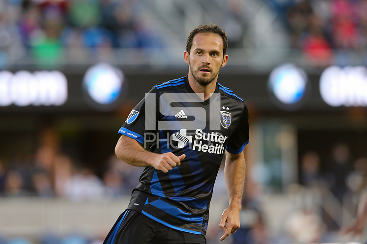 San Jose, CA - Wednesday May 17, 2017: Marco Ureña during a Major League Soccer (MLS) match between the San Jose Earthquakes and Orlando City SC at Avaya Stadium.