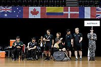 Andrew Harrison (AUS) vs GB<br /> Australian Wheelchair Rugby Team<br /> 2018 IWRF WheelChair Rugby <br /> World Championship / Semi Finals<br /> Sydney  NSW Australia<br /> Thursday 9th August 2018<br /> © Sport the library / Jeff Crow / APC