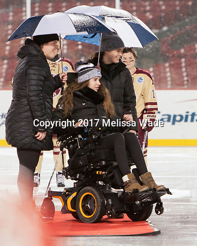 Marissa Gedman, Denna Laing, Alex Carpenter - The Boston College Eagles defeated the Harvard University Crimson 3-1 on Tuesday, January 10, 2017, at Fenway Park in Boston, Massachusetts.The Boston College Eagles defeated the Harvard University Crimson 3-1 on Tuesday, January 10, 2017, at Fenway Park.