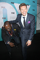 Ryan Seacrest and Randy Jackson at the Fox 2012 Programming Presentation Post-Show Party at Wollman Rink in Central Park on May 14, 2012 in New York City.