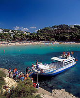 ESP, Spanien, Balearen, Menorca, Cala Galdana: beliebter Ferienort im Sueden | ESP, Spain, Balearic Islands, Menorca, Cala Galdana: resort in the south