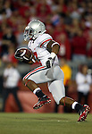 Ohio State running back Jordan Hall (7) returns a kick during an NCAA college football game against the Wisconsin Badgers on October 16, 2010 at Camp Randall Stadium in Madison, Wisconsin. The Badgers beat the Buckeyes 31-18. (Photo by David Stluka)