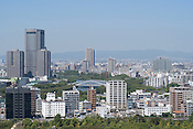 A view of Osaka city as seen from the top of Osaka Castle