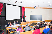 From left, Philippe Douste-Blazy speaks on a panel with Baroness Tessa Jowell and Luiz Odorico Monteiro de Andrade during Douste-Blazy's visit to Harvard University's T. H. Chan School of Public Health in Boston, Massachusetts, USA. The panel was moderated by professor Rifat Atun (right), Director of Harvard's Global Health Systems Cluster. The visit is part of his campaign to become Director General of the World Health Organization. Jowell has served in the UK as a member of parliament and held various ministerial positions. Odorico is a current member of the Brazilian parliament and has served Minister of Health for numerous districts in the country. During the visit, Doutse-Blazy met with professors, students, and visiting scholars, including former Ministers of Health from England and Brazil. Doutse-Blazy is Under-Secretary-General and Special Adviser on Innovative Financing for Development in the United Nations and chairman of UNITAID. He served as Minister of Health, Minister of Culture, and Foreign Minister in the French government and was also mayor of Lourdes and Toulouse. Next to Odorico (in black) is Harvard School of Public Health doctoral student Gui Trivellato, who served as a translator for Odorico during the panel.