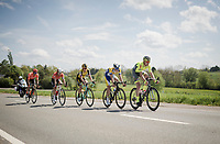 the breakaway group<br /> <br /> 83rd La Flèche Wallonne 2019 (1.UWT)<br /> One day race from Ans to Mur de Huy (BEL/195km)<br /> <br /> ©kramon