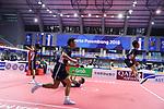 Japan team group (JPN),<br /> AUGUST 31, 2018 - Sepak takroae : <br /> Men's semi-final match between Japan - Vietnam<br /> at Jakabaring Sport Center Ranau Hall <br /> during the 2018 Jakarta Palembang Asian Games <br /> in Palembang, Indonesia. <br /> (Photo by Yohei Osada/AFLO SPORT)