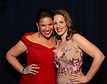 Lindsay Mendez and Jessie Mueller attends the Opening Night After Party for 'Carousel' at the Cipriano 25 on April 12, 2018 in New York City.