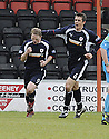 03/05/2008   Copyright Pic: James Stewart.File Name : sct_jspa05_airdrie_v_raith.GRAHAM WEIR IS CONGRATULATED BY ANDY TODD AFTER HE SCORES RAITH'S FIRST FROM THE PENALTY SPOT.James Stewart Photo Agency 19 Carronlea Drive, Falkirk. FK2 8DN      Vat Reg No. 607 6932 25.Studio      : +44 (0)1324 611191 .Mobile      : +44 (0)7721 416997.E-mail  :  jim@jspa.co.uk.If you require further information then contact Jim Stewart on any of the numbers above........