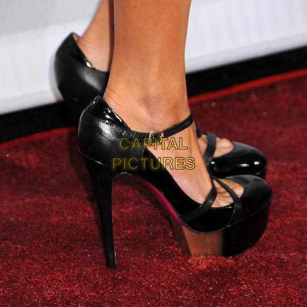 PARIS HILTON'S SHOES.2009 Fox Reality Channel Really Awards held at the Music Box Theatre, Hollywood, California, USA..October 13th, 2009.feet heels buckle gold black mary janes shoes platform .CAP/ADM/BP.©Byron Purvis/AdMedia/Capital Pictures.