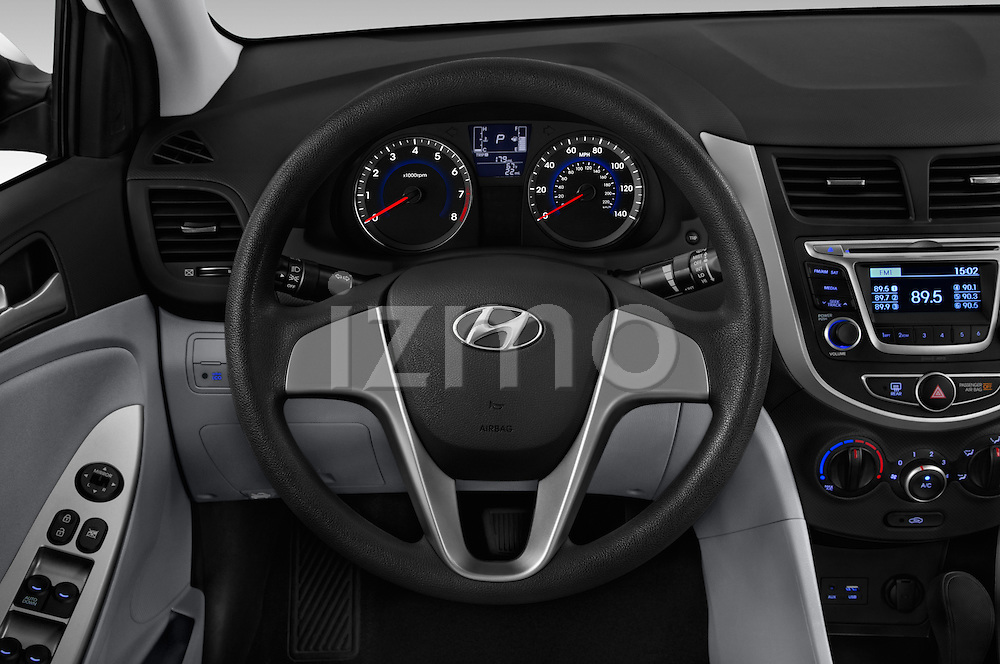 Car pictures of steering wheel view of a 2016 Hyundai Accent SE 4-Door 6-Speed Automatic 4 Door Sedan Steering Wheel