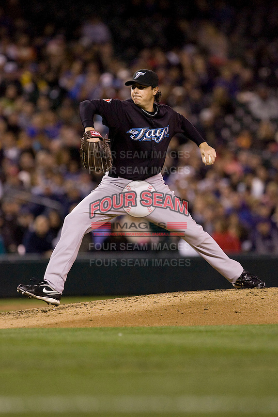 May 19, 2010: Toronto Blue Jays pitcher Scott Downs (37) delivers a pitch during a game against the Seattle Mariners at Safeco Field in Seattle, Washington.