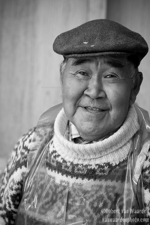 Portrait of a Greenland fisherman. Cape Farewell Youth Expedition 08(©Robert vanWaarden ALL RIGHTS RESERVED)