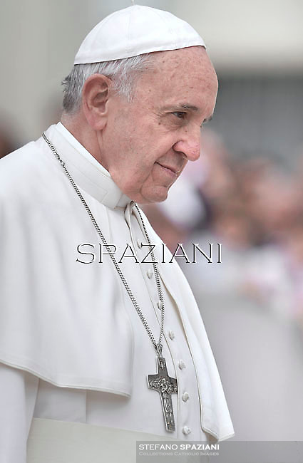 Pope Francis during his weekly general audience in St. Peter square at the Vatican, Wednesday.April 9 2014.