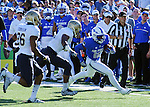 October 1, 2016 - Colorado Springs, Colorado, U.S. -  Air Force wide receiver, Tyler Williams #12, breaks free along the sideline during the NCAA Football game between the Naval Academy Midshipmen and the Air Force Academy Falcons, Falcon Stadium, U.S. Air Force Academy, Colorado Springs, Colorado.  Air Force defeats Navy 28-14 to remain undefeated.