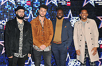 Rak-Su (Mustafa Rahimtulla, Myles Stephenson, Ashley Fongho and Jamaal Shurland) at the Global Awards 2019, Hammersmith Apollo (Eventim Apollo), Queen Caroline Street, London, England, UK, on Thursday 07th March 2019.<br /> CAP/CAN<br /> &copy;CAN/Capital Pictures