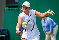 London, England, 5 th. July, 2018, Tennis,  Wimbledon, Asleigh Barty (AUS)<br /> Photo: Henk Koster/tennisimages.com