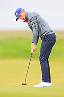 Matt Wallace (ENG) on the 4th green during Round 2 of the Alfred Dunhill Links Championship 2019 at Kingbarns Golf CLub, Fife, Scotland. 27/09/2019.<br /> Picture Thos Caffrey / Golffile.ie<br /> <br /> All photo usage must carry mandatory copyright credit (© Golffile | Thos Caffrey)