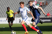 Harvey Barnes of Leicester City and England U18's in action during England Under-18 vs Scotland Under-20, Toulon Tournament Semi-Final Football at Stade Parsemain on 8th June 2017