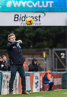 Wycombe Wanderers Manager Gareth Ainsworth throws the ball back during the Sky Bet League 2 match between Wycombe Wanderers and Luton Town at Adams Park, High Wycombe, England on 6 February 2016. Photo by Andy Rowland.
