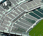 Aerial of Lincoln Financial Field, Home of the Philadelphia Eagles, and Spectrum Aerial views of artistic patterns in the earth.