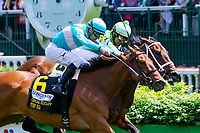 LOUISVILLE, KY - MAY 06: Roca Rojo (IRE), #6 with Florent Geroux win the Churchill Distaff Turf Mile on Kentucky Derby Day at Churchill Downs on May 6, 2017 in Louisville, Kentucky. (Photo by Sue Kawczynski/Eclipse Sportswire/Getty Images)