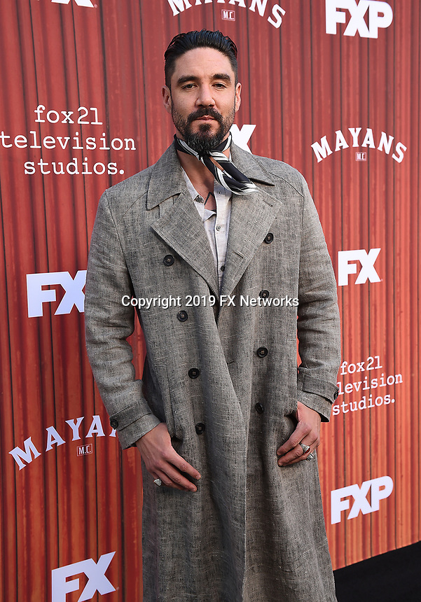 "HOLLYWOOD - MAY 29: Clayton Cardenas attends the FYC event for FX's ""Mayans M.C."" at Neuehouse Hollywood on May 29, 2019 in Hollywood, California. (Photo by Frank Micelotta/FX/PictureGroup)"