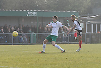 Nathan Arnold of Grimsby Town shoots at goal during the FA Trophy Semi Final first leg match between Bognor Regis and Grimsby Town at Nyewood Lane, Bognor Regis, England on 12 March 2016. Photo by Paul Paxford/PRiME Media Images.