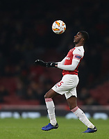 Arsenal's Ainsley Maitland-Niles<br /> <br /> Photographer Rob Newell/CameraSport<br /> <br /> UEFA Europa League Group E - Arsenal v FK Qarabag - Thursday 13th December 2018 - Emirates Stadium - London<br />  <br /> World Copyright © 2018 CameraSport. All rights reserved. 43 Linden Ave. Countesthorpe. Leicester. England. LE8 5PG - Tel: +44 (0) 116 277 4147 - admin@camerasport.com - www.camerasport.com