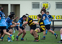 Action from the Horowhenua-Kapiti premier club rugby union match between Foxton and College Old Boys at Easton Park in Foxton, New Zealand on Saturday, 7 July 2018. Photo: Dave Lintott / lintottphoto.co.nz