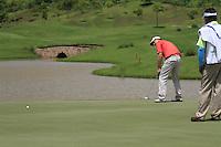 Padraig Harrington (IRL) takes his putt on the 18th green during Sundays Final Round 3 of the 54 hole Iskandar Johor Open 2011 at the Horizon Hills Golf Resort Johor, Malaysia, 19th November 2011 (Photo Eoin Clarke/www.golffile.ie)