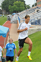Saint Louis, MO August 1 2013<br /> Cristiano Ronaldo<br /> Real Madrid practiced at Herman Stadium on the campus of Saint Louis University ahead of their international friendly with Inter Milan at the Edward Jones Dome.