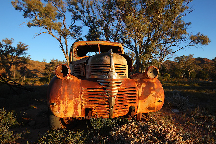 Old car in outback Australia.
