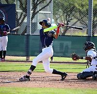 Yemil Rosario participates in the MLB International Showcase at Salt River Fields on November 12-14, 2019 in Scottsdale, Arizona (Bill Mitchell)
