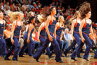 Virginia dance team dancers perform during the game Saturday, February 22, 2014,  in Charlottesville, VA. Virginia won 70-49.