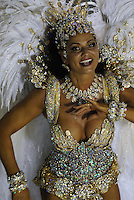 Model Luiza Brunet, from Imperatriz Leopoldinense samba school performs at the Sambadrome during the samba school parade in Rio de Janeiro, Brazil, February 23, 2009.