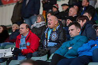 Wycombe fans during the Sky Bet League 2 match between Plymouth Argyle and Wycombe Wanderers at Home Park, Plymouth, England on 26 December 2016. Photo by Mark  Hawkins / PRiME Media Images.
