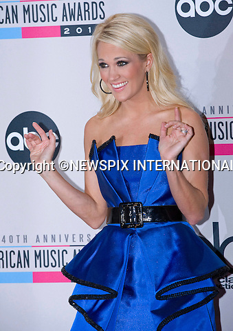 ".attends the 40th American Music Awards, Nokia Theatre, Los Angeles_18/11/2012.Mandatory Photo Credit: ©Dias/Newspix International..**ALL FEES PAYABLE TO: ""NEWSPIX INTERNATIONAL""**..PHOTO CREDIT MANDATORY!!: NEWSPIX INTERNATIONAL(Failure to credit will incur a surcharge of 100% of reproduction fees)..IMMEDIATE CONFIRMATION OF USAGE REQUIRED:.Newspix International, 31 Chinnery Hill, Bishop's Stortford, ENGLAND CM23 3PS.Tel:+441279 324672  ; Fax: +441279656877.Mobile:  0777568 1153.e-mail: info@newspixinternational.co.uk"
