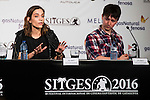 "Canadian actress Kathleen Munroe and director Steven	<br /> Kostanski	 during the press conference of the presentation of ""The Void"" at Festival de Cine Fantastico de Sitges in Barcelona. October 08, Spain. 2016. (ALTERPHOTOS/BorjaB.Hojas)"