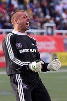 Chicago Fire goalkeeper Jon Busch #1. The Chicago Fire and Real Salt Lake played to a 1-1 tie during a Major League Soccer match at Rice-Eccles Stadium in Salt Lake City, Utah on March 29, 2008.