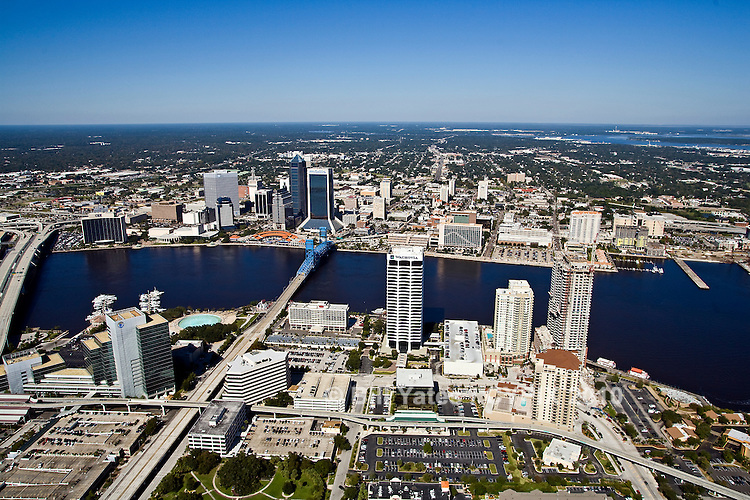 Aerial view of Jacksonville Downtown