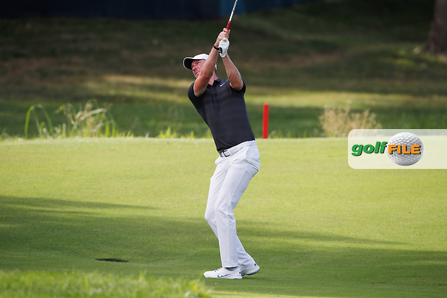 Chris Wood (ENG) plays the 17th hole during the first round of the 100th PGA Championship at Bellerive Country Club, St. Louis, Missouri, USA. 8/9/2018.<br /> Picture: Golffile.ie | Brian Spurlock<br /> <br /> All photo usage must carry mandatory copyright credit (© Golffile | Brian Spurlock)