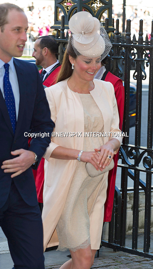 KATE EXPECTING 2ND CHILD<br /> Kensington Palace has confirmined that the Duke and Duchess of Cambridge are expecting their second child.<br /> <br /> KATE, DUCHESS OF CAMBRIDGE<br /> joined The Queen and other members of the Royal Family for  A Service to Celebrate the 60th Anniversary of the Coronation Service at Westminster Abbey, London_04/06/2013<br /> Members of the Royal Family attending the Service included The Prince of Wales and The Duchess of Cornwall, The Duke and Duchess of Cambridge, Prince Henry of Wales, The Duke of York and Princesses Beatrice and Eugenie, The Earl and Countess of Wessex and The Lady Louise Mountbatten-Windsor, The Princess Royal, Vice Admiral Sir Tim Laurence, Peter Phillips and Autumn (Kelly) Phillips, Zara (Phillips) Tindall and Mike Tindall, The Duke and Duchess of Gloucester, The Duke and Duchess of Kent, Prince and Princess Michael of Kent<br /> Mandatory Credit Photo: &copy;Francis Dias/NEWSPIX INTERNATIONAL<br /> <br /> **ALL FEES PAYABLE TO: &quot;NEWSPIX INTERNATIONAL&quot;**<br /> <br /> IMMEDIATE CONFIRMATION OF USAGE REQUIRED:<br /> Newspix International, 31 Chinnery Hill, Bishop's Stortford, ENGLAND CM23 3PS<br /> Tel:+441279 324672  ; Fax: +441279656877<br /> Mobile:  07775681153<br /> e-mail: info@newspixinternational.co.uk