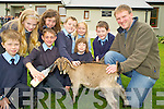 "Pictured with ""Smiggy"", one of the Bothar goats that visited Coolick National School, Kilcummin along with breeder Mike O'Shea on Thursday were Adam O'Connor, Chris Moynihan, Conor O'Leary, Anna Hannigan, Siofra Foley, Aoireann Moriarty, Claire Stagg and Evan Fitzgerald Buckley."