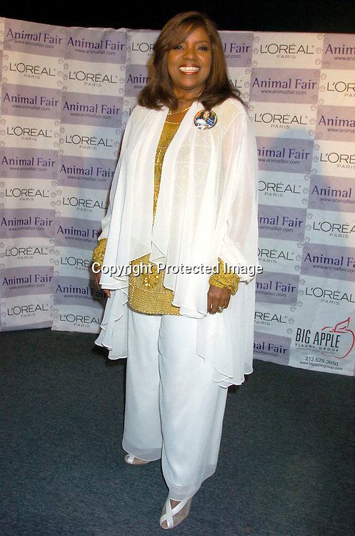 """Gloria Gaynor ..at Animal Fair's fifth Annual """" Paws for Style"""" fashion show to celebrate the 100th year anniversary of the Humane society of New York. The event was on May 24, 2004 at ..Club Black...Photo by Robin Platzer, Twin Images"""
