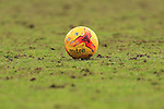 The match ball sits on a poor pitch - Blackpool vs. Nottingham Forest - Skybet Championship - Bloomfield Road - Blackpool - 14/02/2015 Pic Philip Oldham/Sportimage