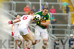Stephen O'Brien, Kerry in action against Stephen Donnelly Tyrone in the fourth round of the National Football league at Fitzgerald Stadium, Killarney on Sunday.