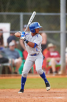 Seton Hall Pirates center fielder Derek Jenkins (6) at bat during a game against the Indiana Hoosiers on March 5, 2016 at North Charlotte Regional Park in Port Charlotte, Florida.  Seton Hall defeated Indiana 6-4.  (Mike Janes/Four Seam Images)