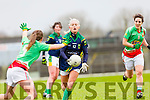 Bernie Breen kerry gets away her pass against Mayo inFitzgerald Stadium onSunday