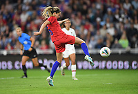 Saint Paul, MN - SEPTEMBER 03: Morgan Brian #6 of the United States during their 2019 Victory Tour match versus Portugal at Allianz Field, on September 03, 2019 in Saint Paul, Minnesota.