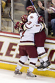 Brian Gibbons (BC - 17), Cam Atkinson (BC - 13) - The Boston College Eagles defeated the University of Massachusetts-Amherst Minutemen 6-5 on Friday, March 12, 2010, in the opening game of their Hockey East Quarterfinal matchup at Conte Forum in Chestnut Hill, Massachusetts.
